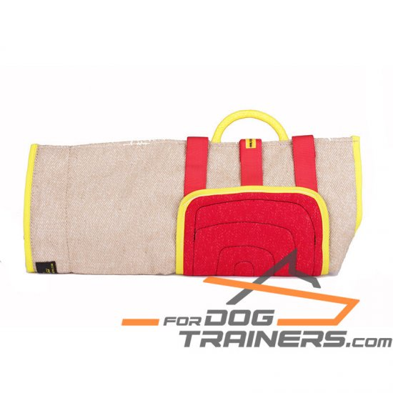 Durable Jute Cover with French Linen Patch for Bite Training Sleeves