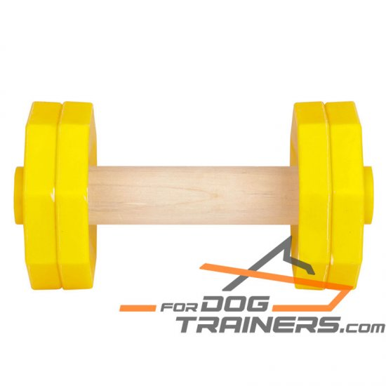 'Daily Training' Wooden Dog Dumbbell with Plastic Removable Plates for Schutzhund Training II 1000 g