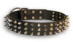 30%Discount-S58 - Fashionable Spiked and Studded Leather Dog Collar