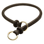 "NEW 2017 ""Best Trainer"" Exquisite Round Leather Silent Choke Collar"