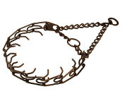 Dog Prong Collar Steel -Antique Copper Plated - 50115 (3.0 mm) (1/9 inch) (Made in Germany)