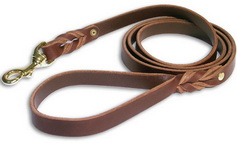 Handcrafted leather dog leash L3-20mm
