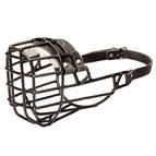 Wire Dog Mouth Guard for Winter with Black Rubber Cover