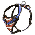 Handpainted Leather Dog Harness for Attack Training and Walking