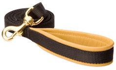 No Rubbing Nylon Dog Leash with Support Leather Material on the Handle