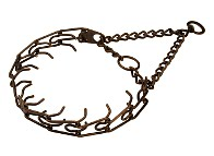 Dog prong collar - 50145 (3.99mm) (1/6 inch) Steel-Antique Copper plated ( Made in Germany )