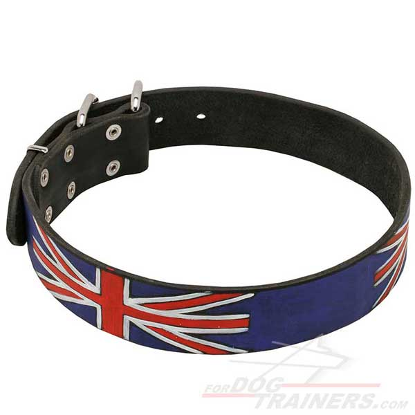 Leather Dog Collar Hand-Painted