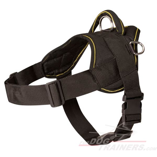 Light in Weight Nylon Canine Harness with Comfy Handle
