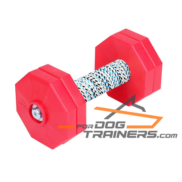 Hardwood Dog Training Dumbbell with Soft Coil