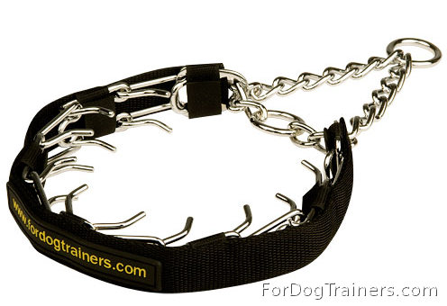Prong Collar with Nylon Protector