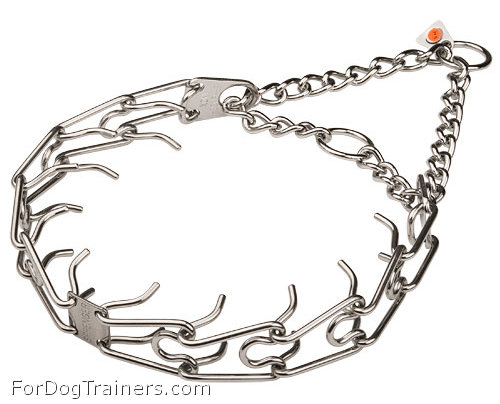 STAINLESS STEEL-Dog pinch collar - 50045 (55) 1/6 inch (3.99 mm) ( Made in Germany )