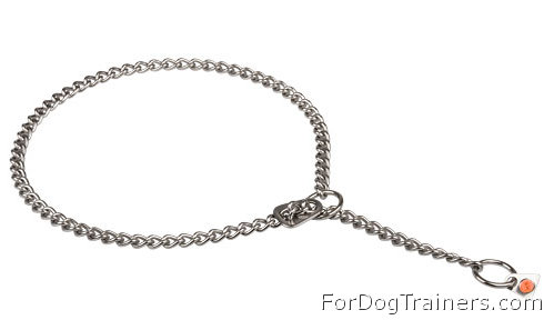 HS Choke Chain Dog Collar made of Stainless Steel
