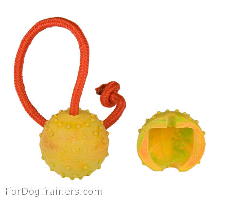 Half hollow Rubber Training Ball on a  string