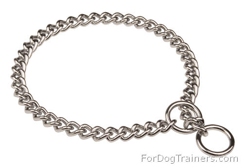 Choke dog collar - HS 51391 (02) 1/6 inch (4.0 mm) ( Made in Germany )