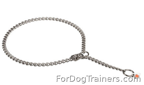 Best training results with New Stainlees steel  Choke dog collar