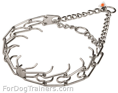Stainless Steel Dog Pinch Collar will help you to train your dog