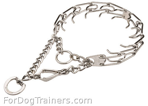 Dog Pinch Collar with Swivel and Small Quick Release Snap Hook - 50106 (02) (1/8 inch) (3.25mm)