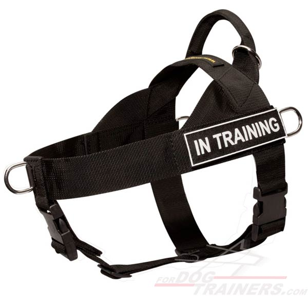 Light Nylon K9 Harness for Police / Military Service