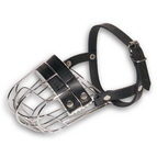 Wire cage dog muzzle super ventilation for daily activities and easy breathing